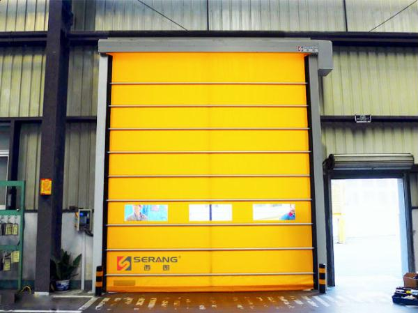 High-end aluminium alloy folding high speed door
